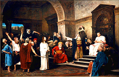 Christ Before Pilate painting